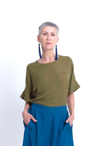 Elk Nomad Summer 2020 collection, Airi top in olive, 100% viscose.