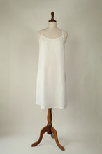 Load image into Gallery viewer, Ladies pure cotton voile full slip or petticoat with adjustable straps in white.