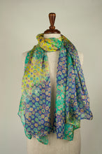 Load image into Gallery viewer, JH Silk spot scarf - turquoise multi