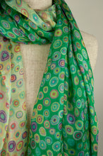 Load image into Gallery viewer, JH Silk spot scarf - jade green