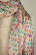Load image into Gallery viewer, JH Silk spot scarf - vanilla rose