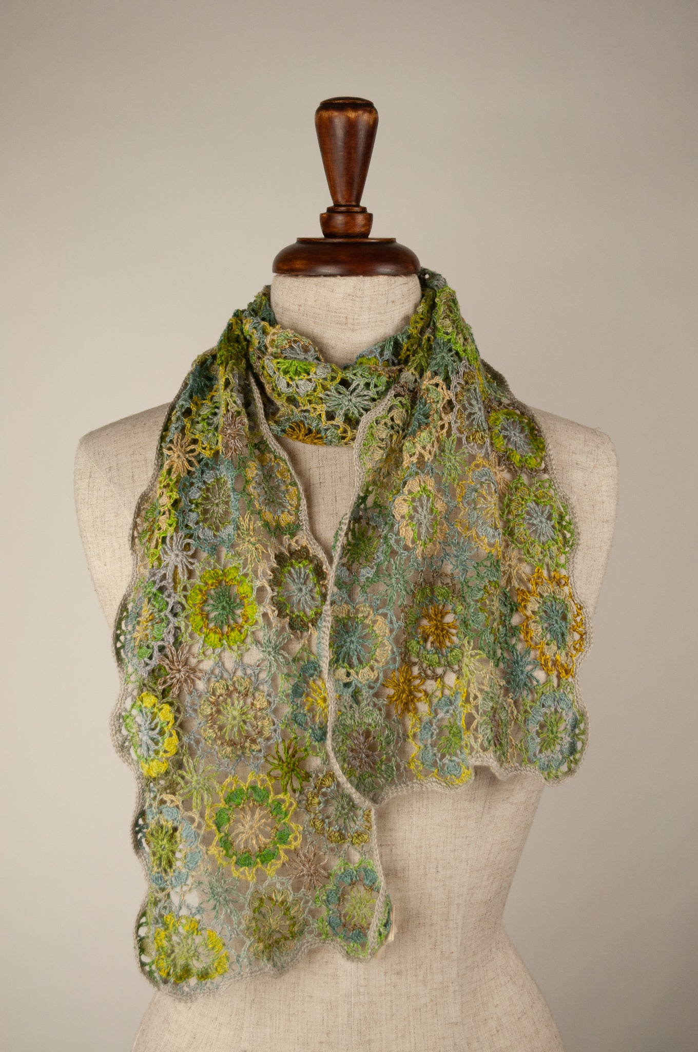 Sophie Digard scarf - Spring linen flowers