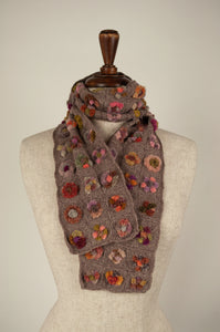 Sophie Digard scarf - Lilac bobble