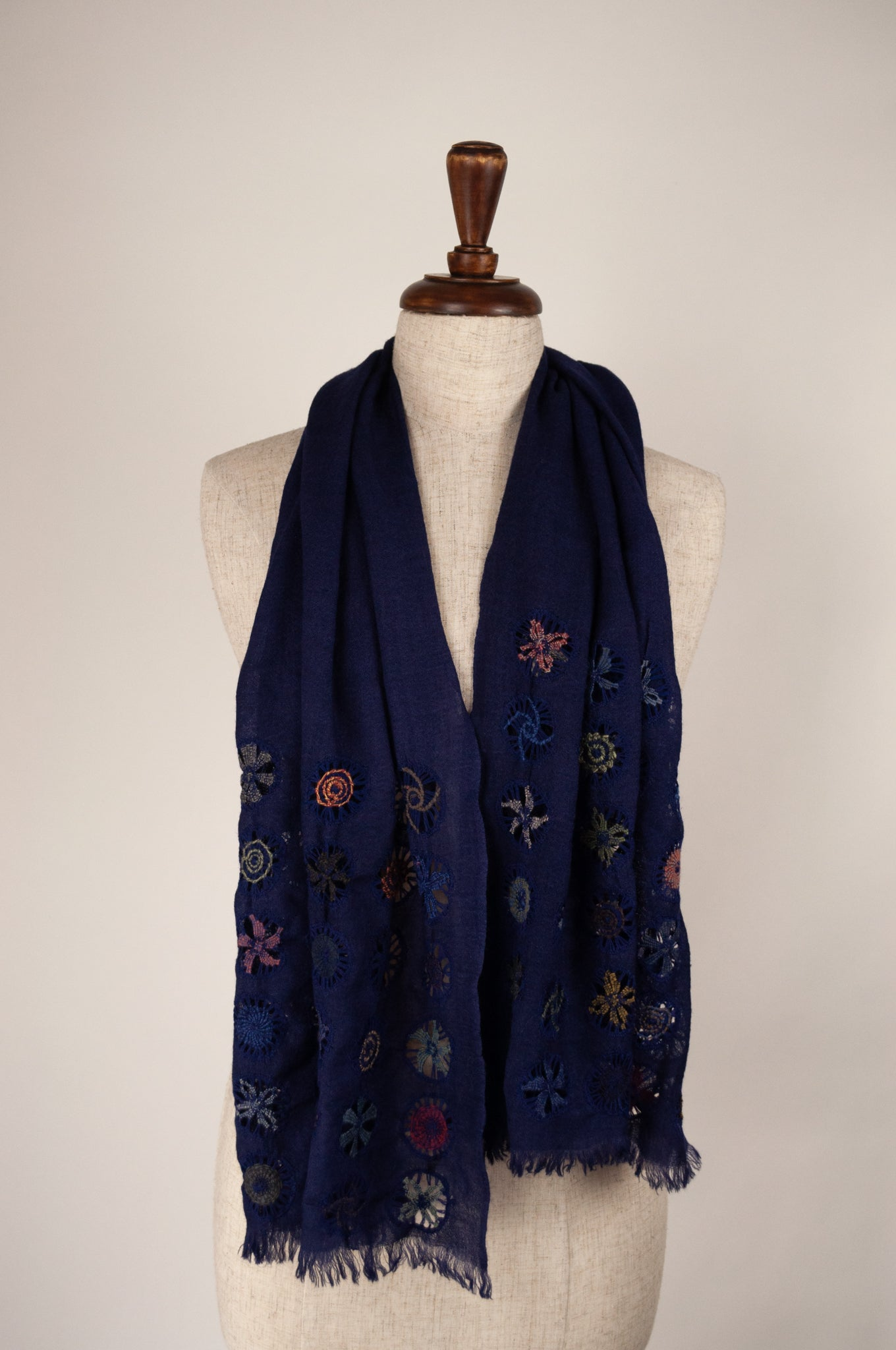 Sophie Digard scarf - Embroidered windows