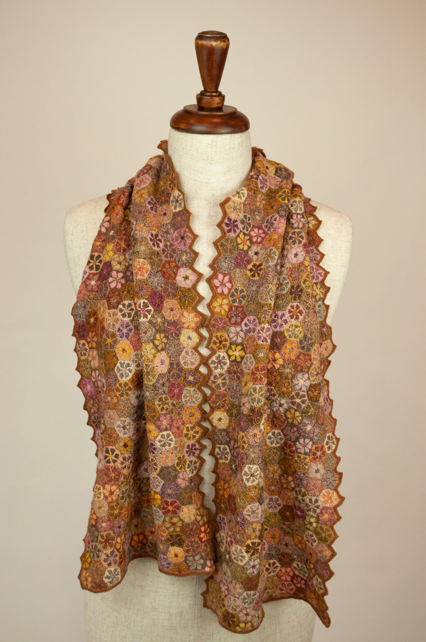 Sophie Digard scarf - Autumn hexagons