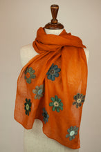 Load image into Gallery viewer, Sophie Digard scarf - Saffron embroidered flowers