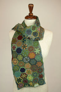 Sophie Digard scarf - Green tiles