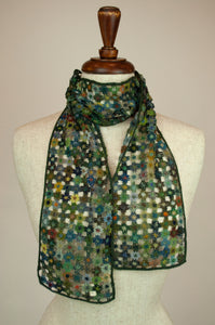 Sophie Digard scarf - Lattice flowers