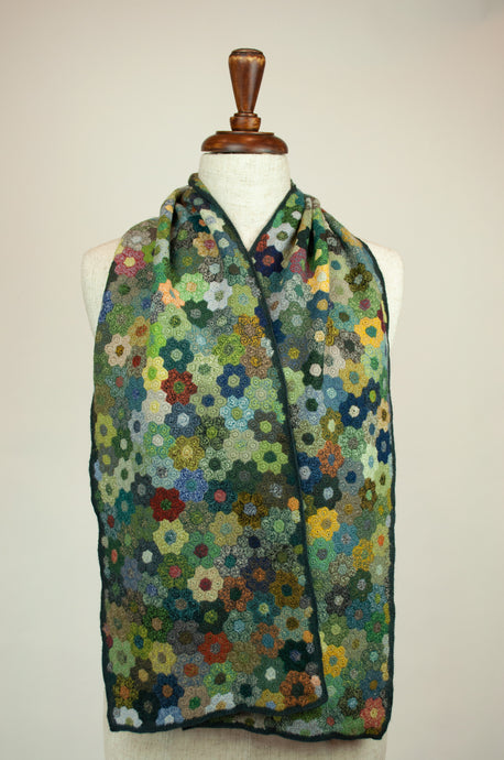 Sophie Digard scarf - Green flowers