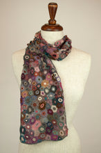 Load image into Gallery viewer, Sophie Digard scarf - Pink and teal flowers