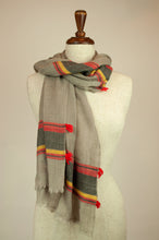 Load image into Gallery viewer, JH Himalayan scarf - natural stripe