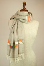 Load image into Gallery viewer, JH Himalayan scarf - oatmeal stripe
