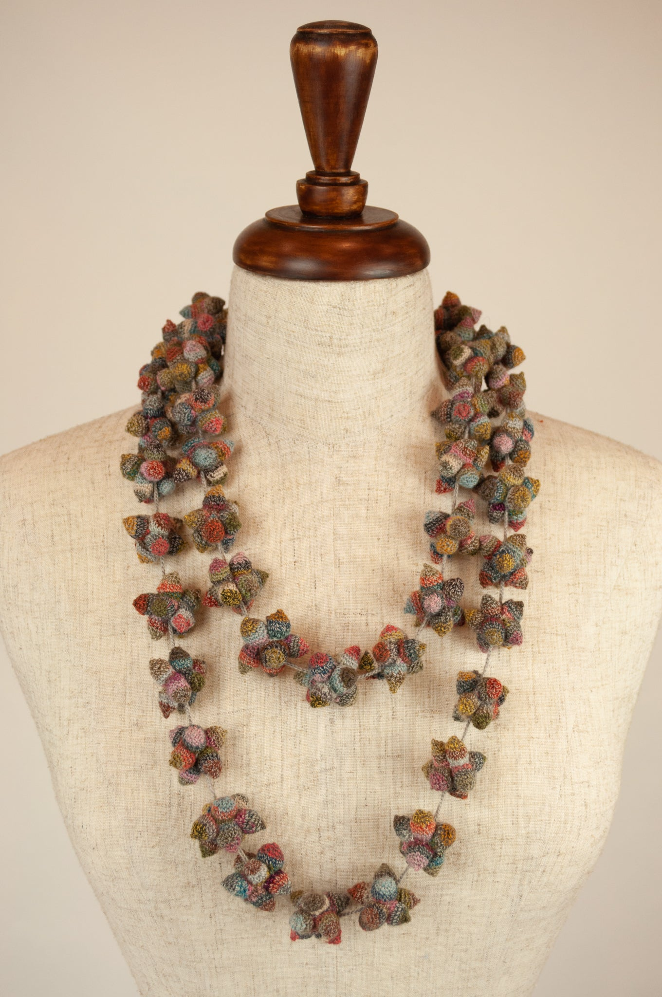 Sophie Digard necklace - sculptural flowers
