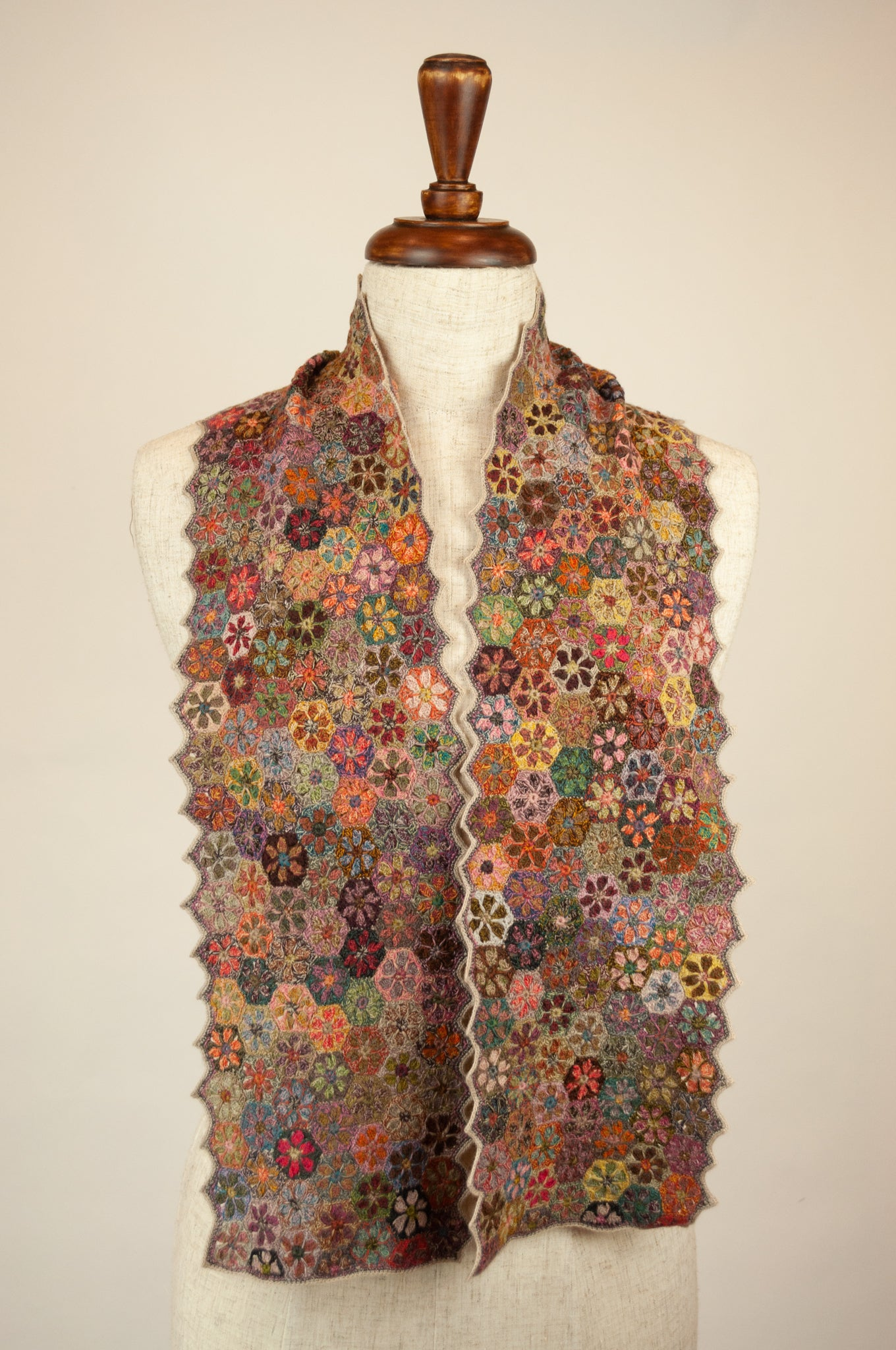Sophie Digard scarf - Hexagon flowers