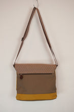 Load image into Gallery viewer, Anna Kaszer canvas crossbody mustard handbag designed in Paris