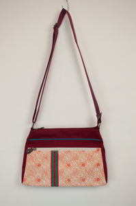 Anna Kaszer canvas crossbody red handbag designed in Paris