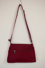 Load image into Gallery viewer, Anna Kaszer canvas crossbody red handbag designed in Paris