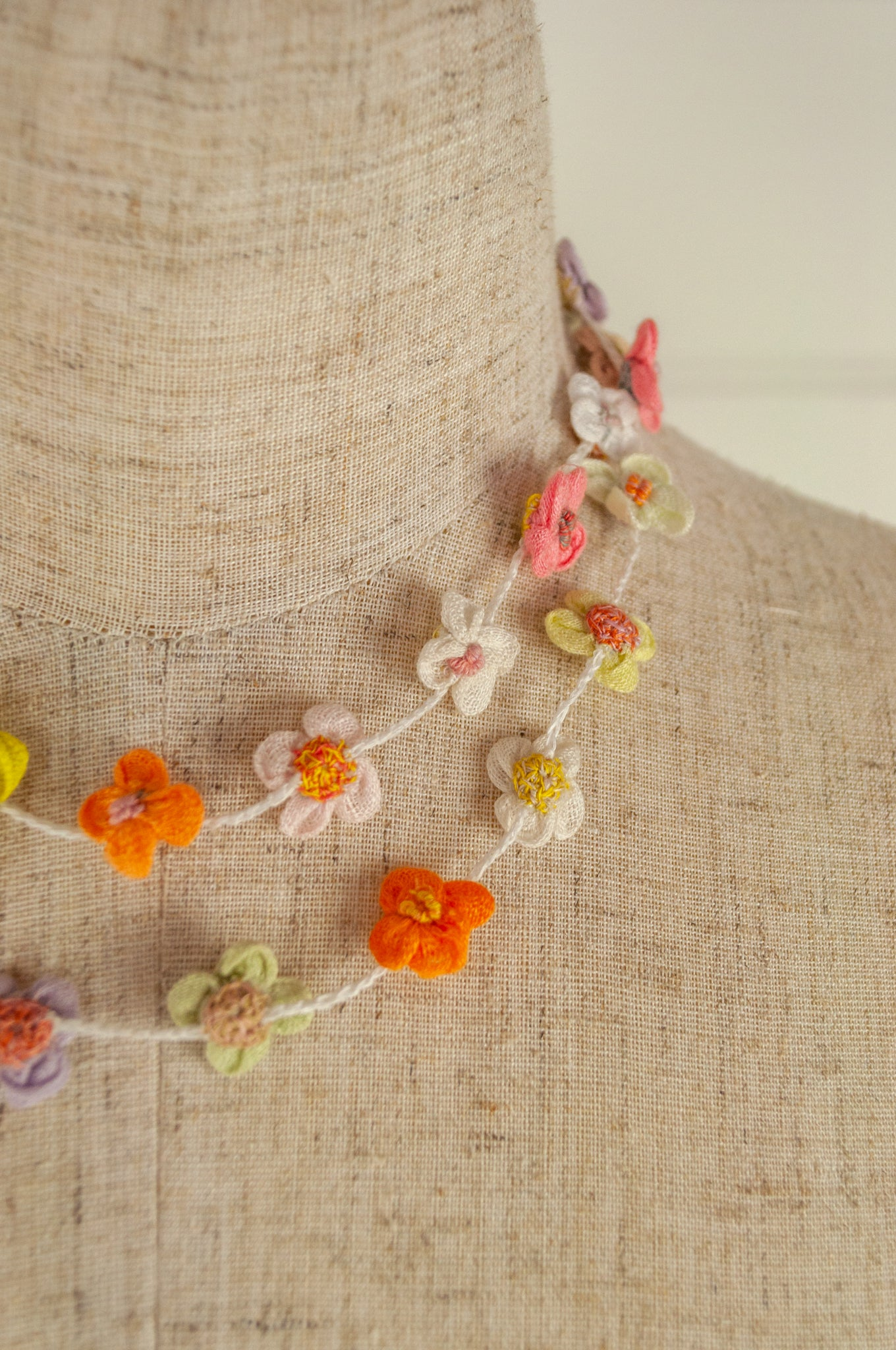 Sophie Digard necklace - Linen flowers