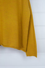 Load image into Gallery viewer, Banana Blue reversible merino cardi jumper - mustard