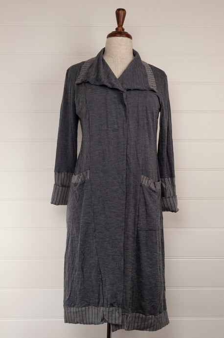 Valia long merino coat - grey