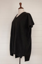 Load image into Gallery viewer, Juniper Hearth baby yak Mila sleeveless v-neck tunic in charcoal.