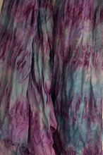 Load image into Gallery viewer, Juniper Hearth silk scarf, marbled digital print in shades of lilac, purple and highlights of blue.