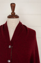 Load image into Gallery viewer, Juniper Hearth baby yak poncho in Cherry Red.