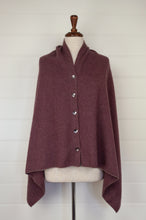 Load image into Gallery viewer, Juniper Hearth baby yak wool poncho in light plum.