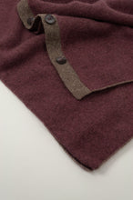 Load image into Gallery viewer, Juniper Hearth baby yak wool poncho in light plum, close up.