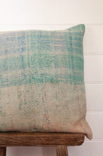 Load image into Gallery viewer, Vintage kantha cushion - minty