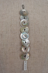 Aurel Création mother of pearl nacre shell button bracelet, Lolapois bracelet in Natural