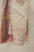 Load image into Gallery viewer, Létol organic cotton jacquard scarf, made in France, Liselotte in blush.