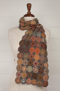 Sophie Digard Verger wool crocheted scarf in the Earth palette.