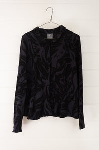 Valia collar jacket - black