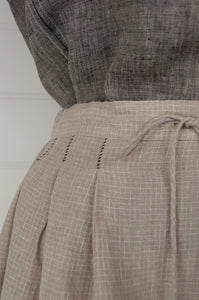 Dve Shiva skirt - natural linen check