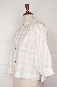 Runaway Bicycle Mimi blouse - white mulberry silk