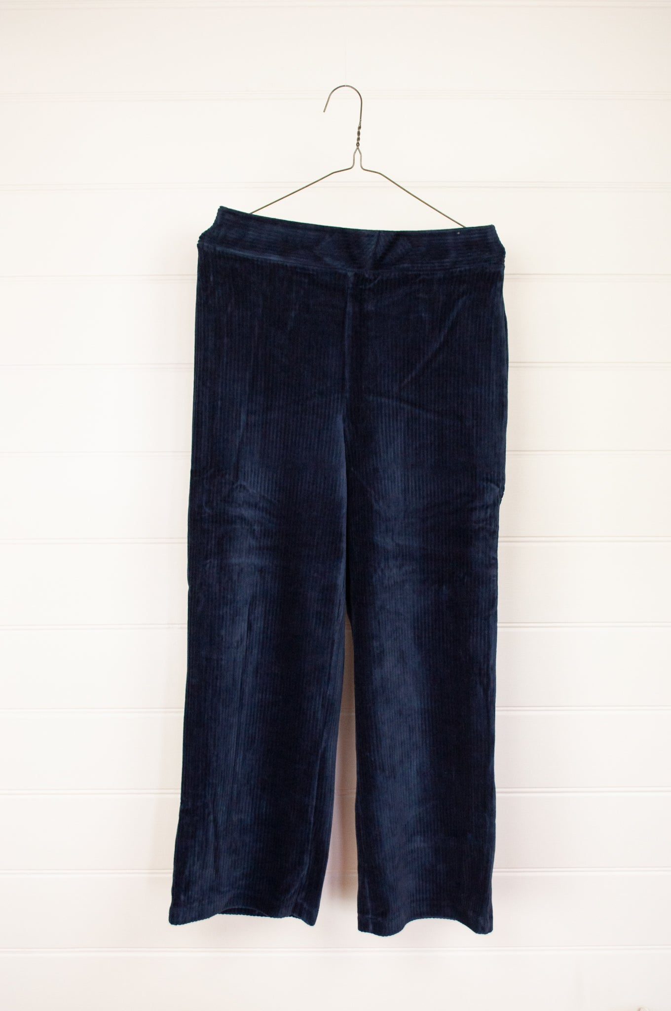 Nice Things by Paloma S designed in Barcelona Spain classic navy wideleg stretch corduroy pants.