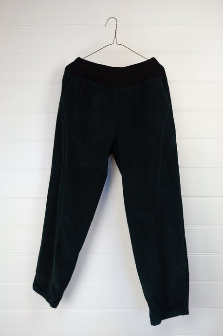 Valia cotton corduroy Hobart pant in black, ethically made in Melbourne.