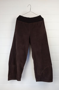 Valia cotton corduroy Tulip pant in coffee brown, ethically made in Melbourne.