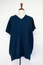 Load image into Gallery viewer, Juniper Hearth ethically made baby yak wool one size Mile tunic vest in French navy.