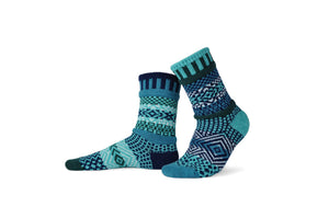 Solmate socks made in the USA from recycled cotton, colour way Evergreen.