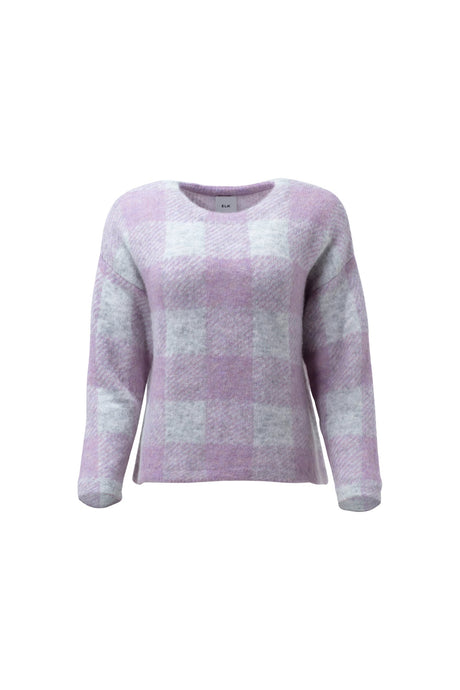 Elk Jelica sweater in lilac check.