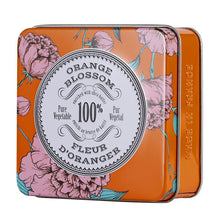 Load image into Gallery viewer, La Chatelaine orange blossom tinned travel soap