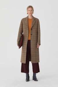 Nice Things Checks long coat