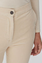 Load image into Gallery viewer, Nice Things by Paloma S designed in Barcelona Spain classic cream corduroy bootleg pant.