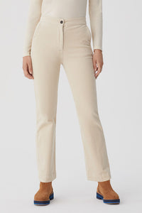 Nice Things by Paloma S designed in Barcelona Spain classic cream corduroy bootleg pant.