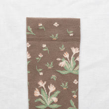 Load image into Gallery viewer, Bonne Maison socks - Taupe Bouquet