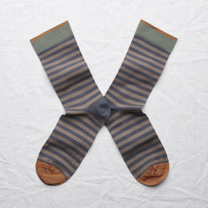 Bonne Maison socks - Steel stripe