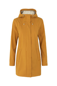 Ilse Jacobsen Rain115B Rain 115B in Burnt Ochre, fully lined and weatherproof rain coat, all weather jacket.