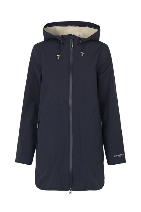 Ilse Jacobsen RAIN135B fully lined raincoat in deep indigo.